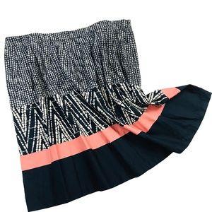 Super Cute Navy Blue & Peach Skirt